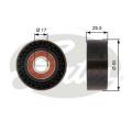 Vratná / vodící kladka GATES (GT T36394) - ALFA ROMEO