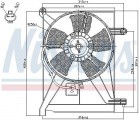 Ventilátor chladiče klimatizace NISSENS 85351