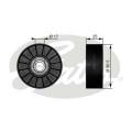 Vratná / vodící kladka GATES (GT T38007) - BUICK, CHEVROLET