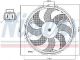 Ventilátor chladiče NISSENS 85037