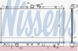 Chladič motoru NISSENS 62804A